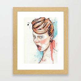 Blaah II Framed Art Print