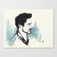 robert downey jr Canvas Prints featuring Robert Downey Jr. by anazhinka