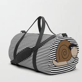 French Snail ~ Escargot Duffle Bag