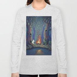 Moomin's night Long Sleeve T-shirt