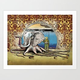 The Octophant Art Print