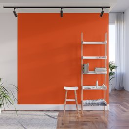 Vermillion Wall Mural