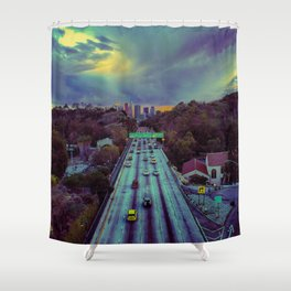 Freeway of Lost Angels Shower Curtain