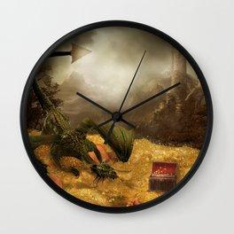 Dragon Treasure Wall Clock