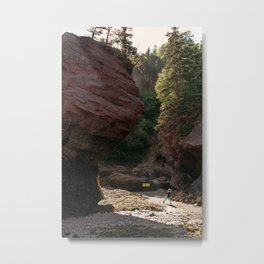Little Adventurer - Hopewell Rocks, NB Metal Print