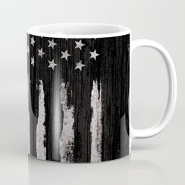 White Grunge American flag Coffee Mug