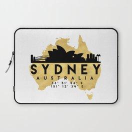 SYDNEY AUSTRALIA SILHOUETTE SKYLINE MAP ART Laptop Sleeve
