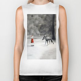 Can't Tame the Wolf Biker Tank