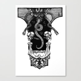 Skulls and Snakes Canvas Print