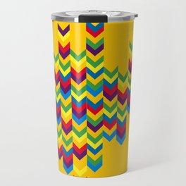 colorful geometry Travel Mug