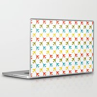 planes Laptop & iPad Skins featuring Colored planes by Yasmina Baggili