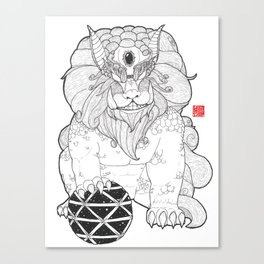 The First Shisa Canvas Print