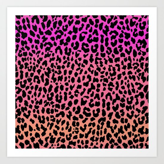Hot Leopard Art Print