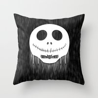 jack skellington Throw Pillows featuring Jack Skellington by Anagram-Daine