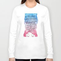roald dahl Long Sleeve T-shirts featuring Good Thoughts Watercolour by Laurel Mae
