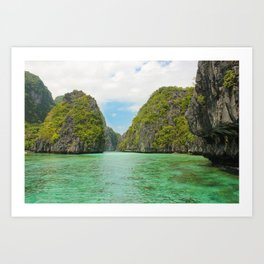 Paradise landscape El Nido Palawan Philippines Art Print