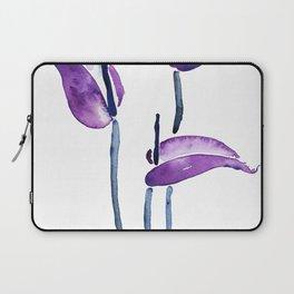 three purple flamingo flowers Laptop Sleeve