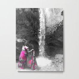Washing At The Falls Metal Print