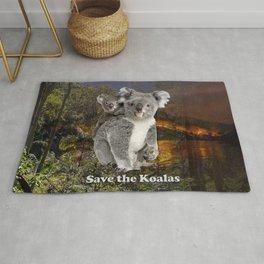Save the Koalas Rug
