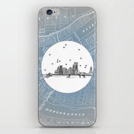 Pittsburgh, Pennsylvania City Skyline Illustration Drawing iPhone Skin