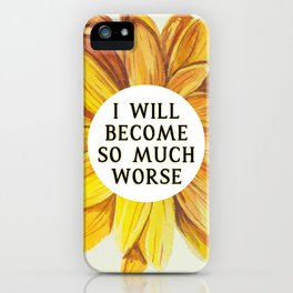 Cruel Prince: SO MUCH WORSE by Holly Black iPhone Case