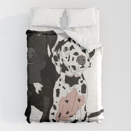 Great Dane Puppy Dogs: Olive & Oden Comforters