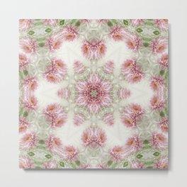Pink Chrysanthemums Kaleidoscope Art 5 Metal Print