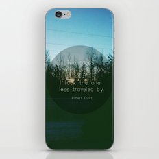 Two Roads (Text Version) iPhone & iPod Skin