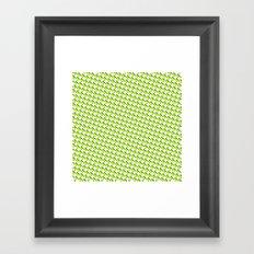 So cross… yellow. Framed Art Print