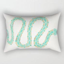 Mint & Gold Serpent Rectangular Pillow