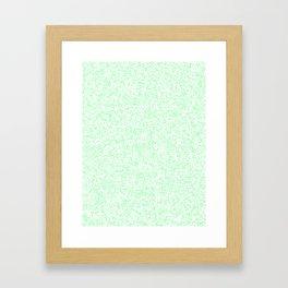 Tiny Spots - White and Mint Green Framed Art Print