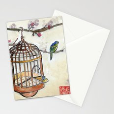 Chinese tea break Stationery Cards