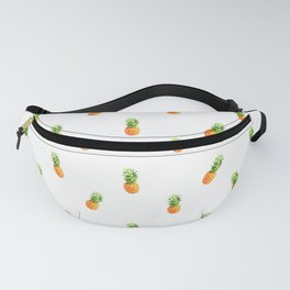 Pineapple, pattern (white version) Fanny Pack