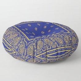 Blue and Gold Bandana Floor Pillow