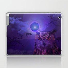 The Owl and the Purple Moon Laptop & iPad Skin