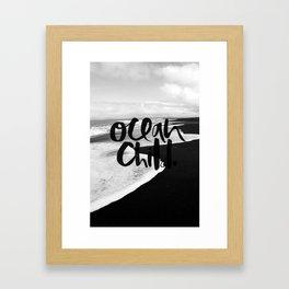 Ocean Child Framed Art Print