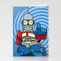 bender Stationery Cards featuring Optimus Bender by darko888