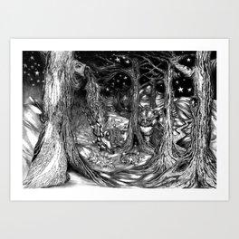 Where the Stars Dance Art Print
