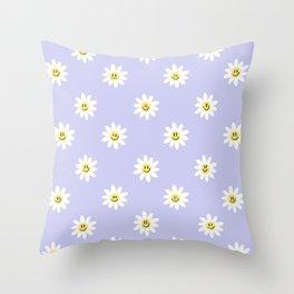 Trippy Daisy Throw Pillow