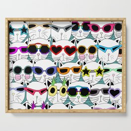 Sunglasses Cats Travel Serving Tray