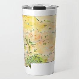 Montana Painted Map Travel Mug