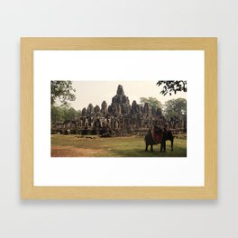Bayon Temple Framed Art Print