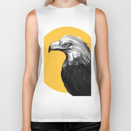 eagle with yellow Biker Tank