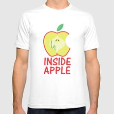 INSIDE APPLE Mens Fitted Tee SMALL White