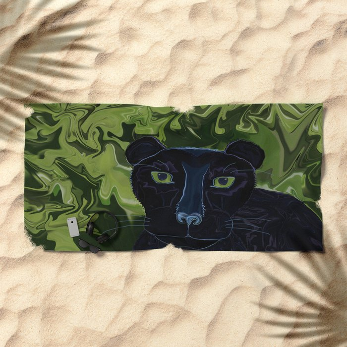 Do Panthers Fly? Beach Towel