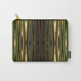 Green-Blue-Gray Zig-Zags Carry-All Pouch