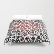 Joshua Tree Heart RED by CREYES Duvet Cover