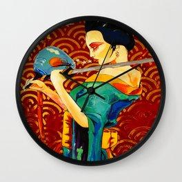 GEISHA SILENCE Wall Clock