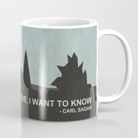 sagan Mugs featuring I Want to Know by Ed Burczyk