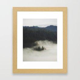 Fog's Embrace Framed Art Print